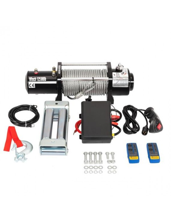 12500LBS 12V Electric Recovery Winch Truck SUV Durable Remote Control