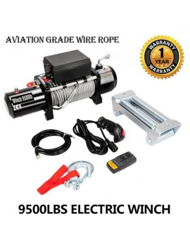 Classic 12V 9500LBS Electric Winch Towing Truck Trailer Steel Cable Off Road