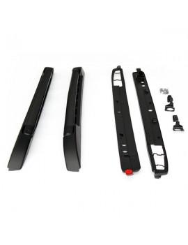 2pcs Professional Portable Roof Racks for 05-19 Toyota Tacoma Double Cab Black