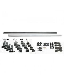 """2pcs 50"""" Universal Aluminum Roof Racks with Locks and Keys"""